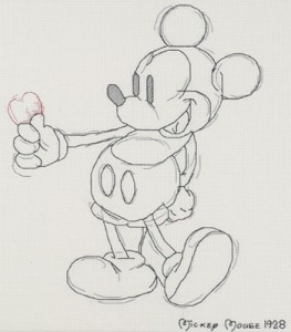 Sketch de Mickey Mouse