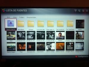Selección de videos del NAS en LG SmartTV