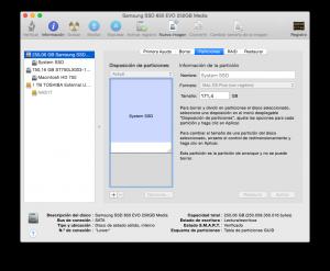 Espacio libre para instalar Linux